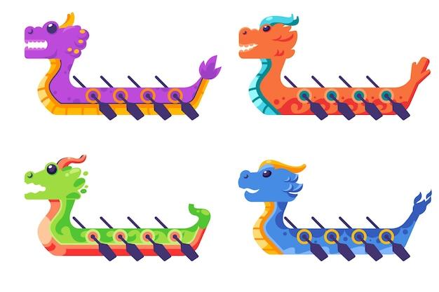 Стая лодок-драконов