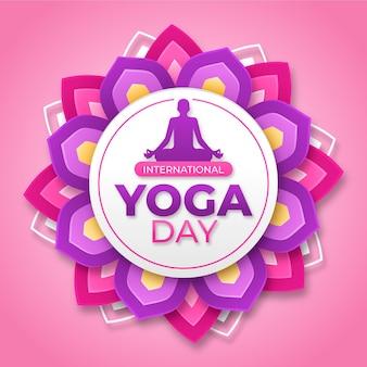 Международный день темы иллюстрации йоги