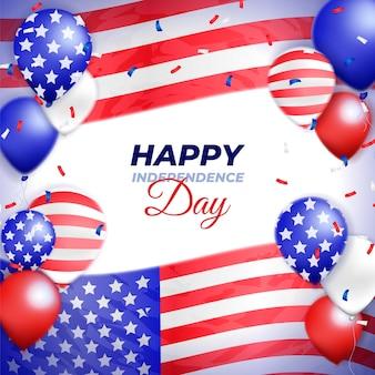 現実的なアメリカ独立記念日のコンセプト