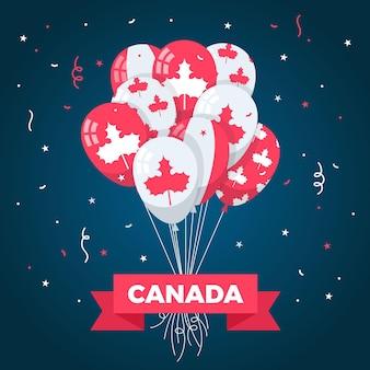 フラットなデザインカナダ日背景コンセプト
