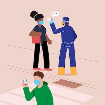 Проверка температуры тела на предмет лихорадки в общественных местах