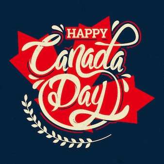 カナダの日レタリング