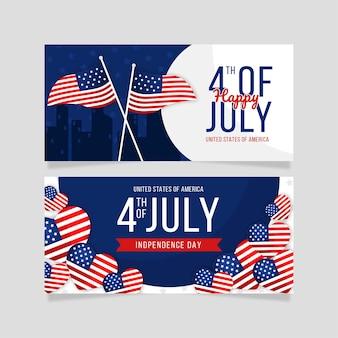 День независимости горизонтальные баннеры шаблона