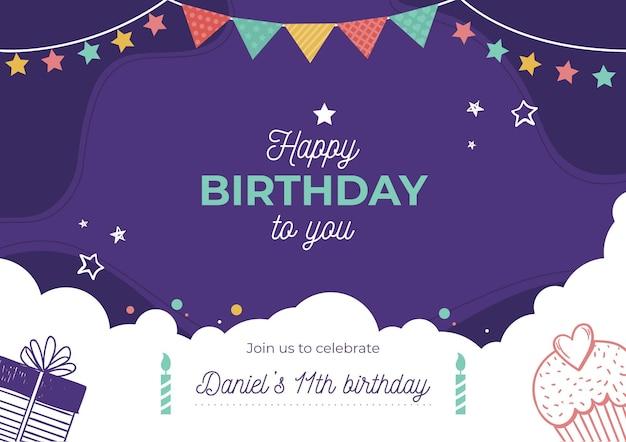 誕生日の招待状のコンセプト