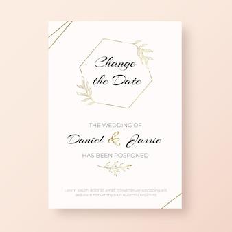 Шаблон для рисованной отложенной свадебной открытки