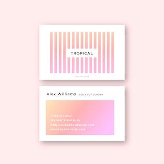 Визитная карточка с пастельным цветом