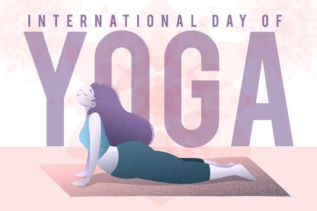 Международный день йоги с женщиной