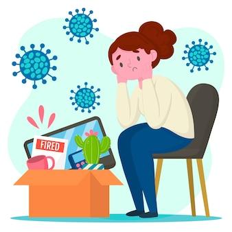 コロナウイルスの危機による損失の仕事コロナウイルスの危機による損失の仕事