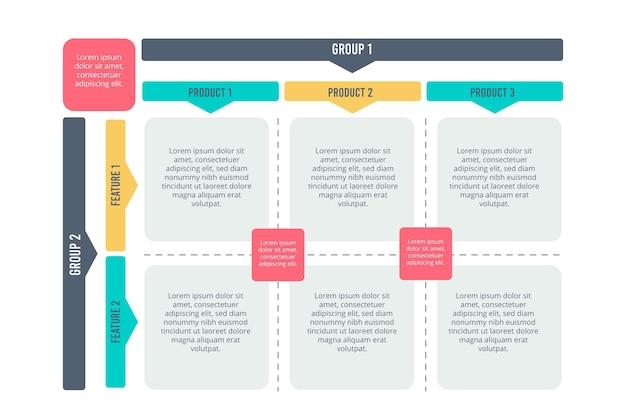 Матричный дизайн диаграммы