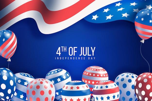 Реалистичные день независимости шары фон