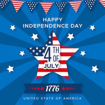 Плоский дизайн тема дня независимости