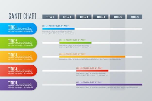 Диаграмма ганта инфографики