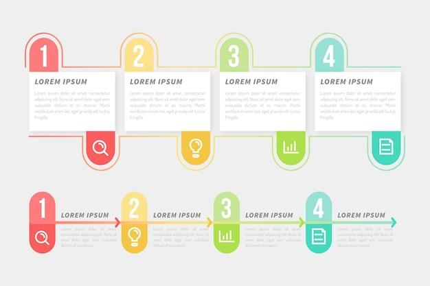 Инфографики шаблон с процессом