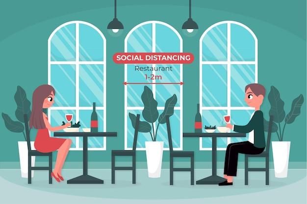 Ресторан социальной дистанции