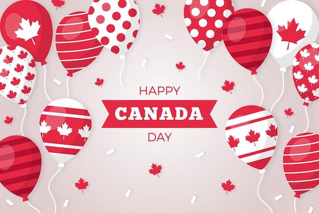 フラットなデザインのカナダ日の背景