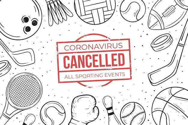 キャンセルされたスポーツイベントの背景