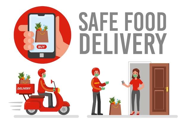 安全な食品配達