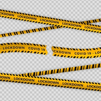Реалистичная огранка карантинной ленты