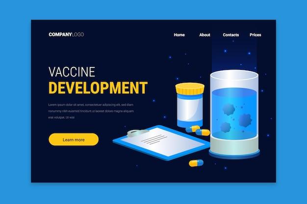 コロナウイルスワクチン開発-ランディングページ