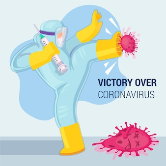 コロナウイルスの勝利