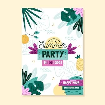 手描き夏パーティーポスター