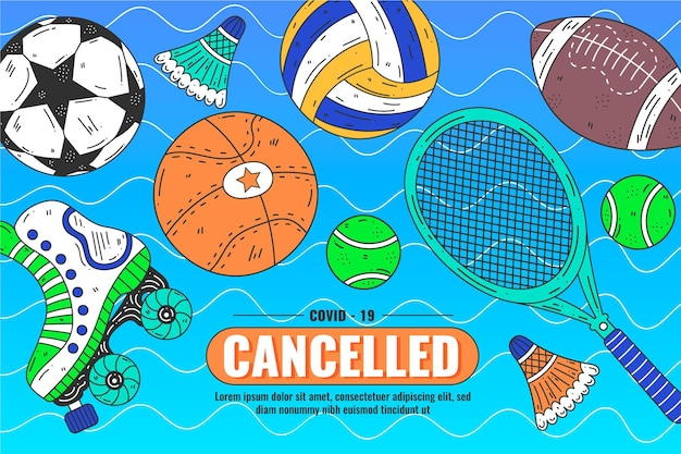 キャンセルされたスポーツイベント-背景