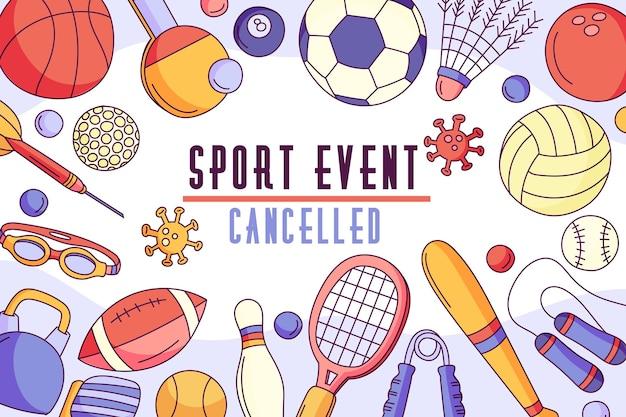 Отмененные спортивные мероприятия - фон