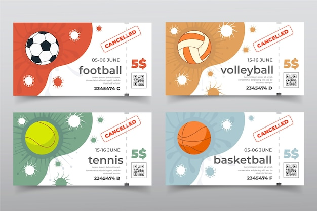 キャンセルされたスポーツイベントのコレクション-バナー
