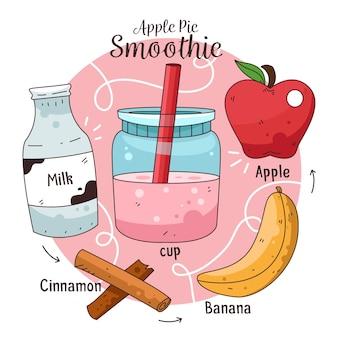 Здоровый коктейль рецепт иллюстрации