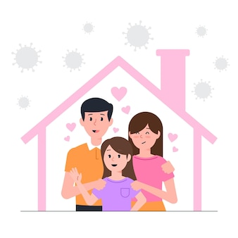 ウイルスから保護された家族