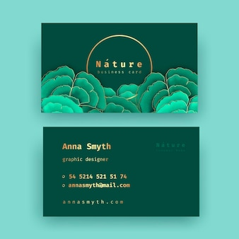 Визитная карточка с набором натуральных мотивов