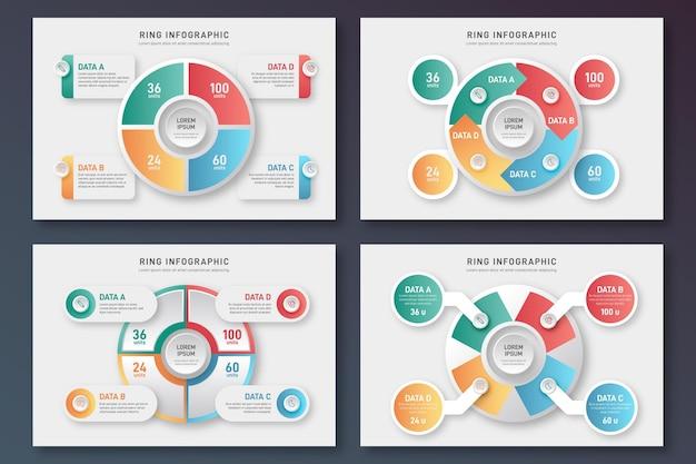 Концепция коллекции инфографики кольцо