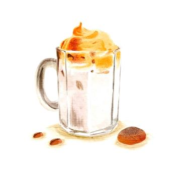 ダルゴナコーヒーイラストコンセプト
