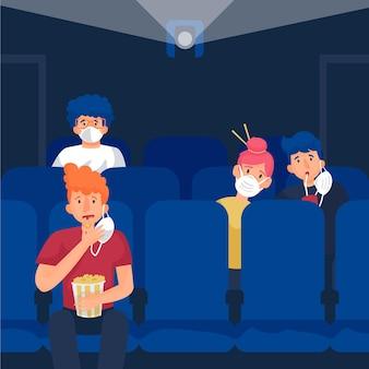 映画館における社会的距離