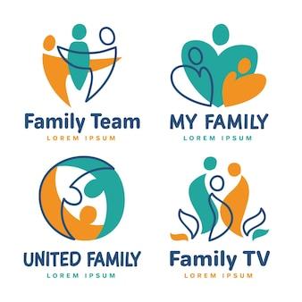 家族のロゴのテンプレートセット