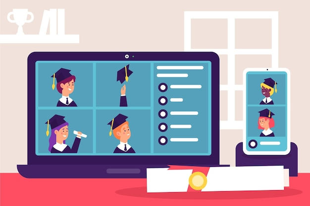 Виртуальная выпускная церемония со студентами