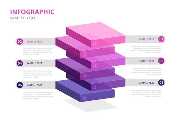 グラデーションブロックインフォグラフィック
