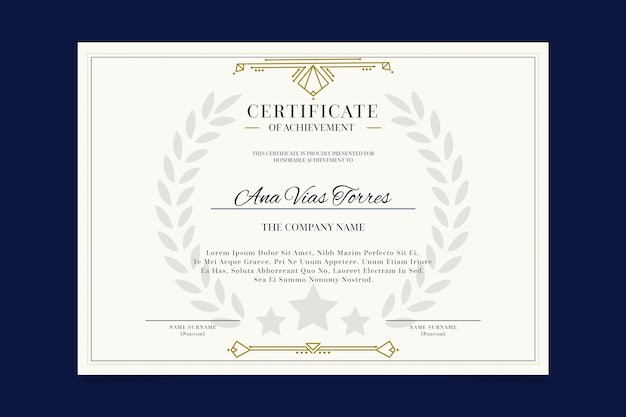 エレガントなテンプレートプロフェッショナル認定書