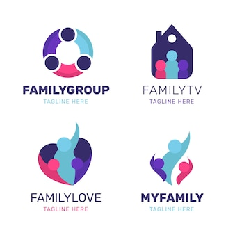家族のロゴコレクション