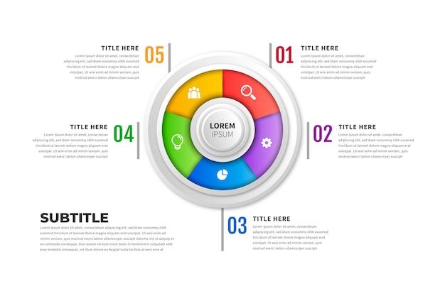 Красочное кольцо инфографики
