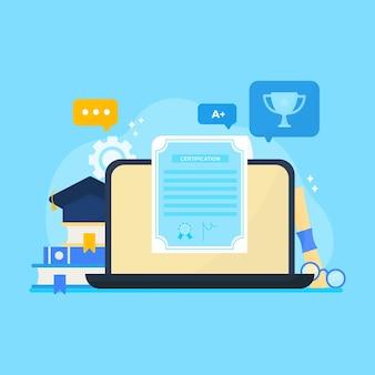 Онлайн-сертификация на экране