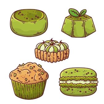 Матча десертная коллекция