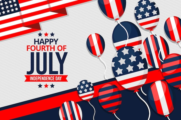 День независимости фон шары
