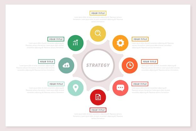 戦略インフォグラフィックコンセプト