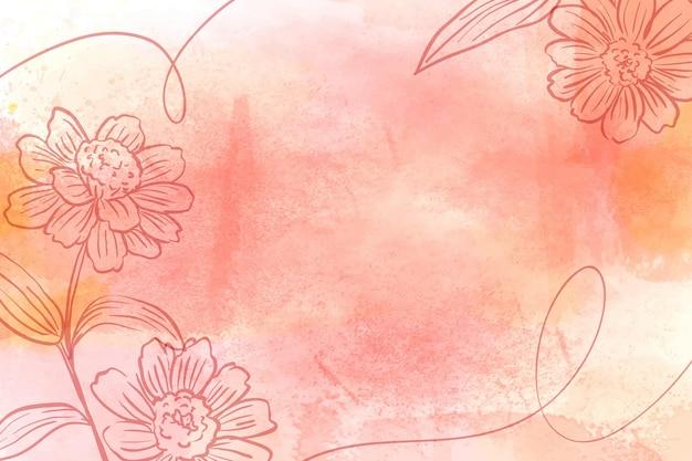 Порошковая пастель с нарисованными от руки элементами обоев