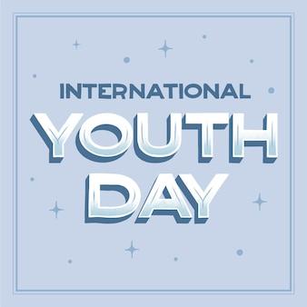 Концепция надписи день молодежи