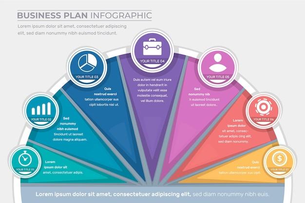 Бизнес план инфографики концепция