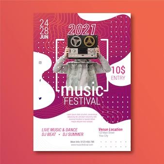 写真付き音楽イベントポスター