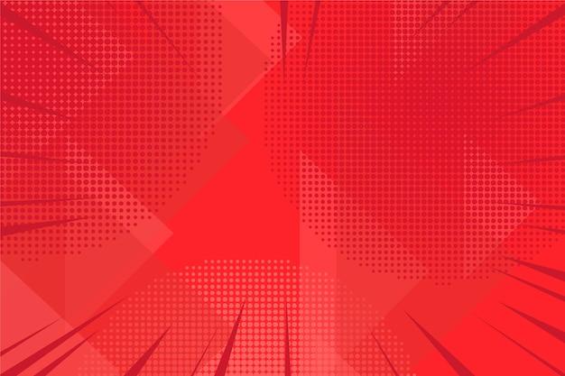 抽象的な赤いハーフトーンの背景
