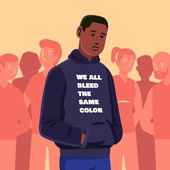 Концепция иллюстрации расизма